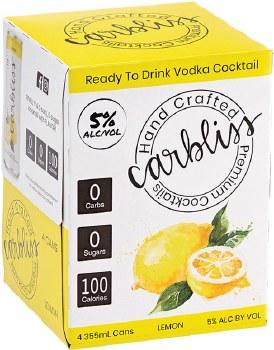 Carbliss Vodka Lemonade 4pk 355ml