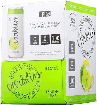 Carbliss Vodka Lemon Lime 4pk 355ml