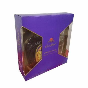 Crown Royal Deluxe Gift Set with Arkansas Glasses 750ml