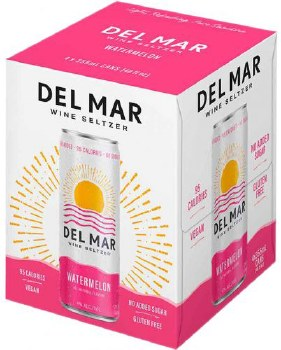 Del Mar Watermelon Wine Seltzer 4pk 12oz Can