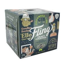 Fling Cucumber Lime Gin and Tonic 4pk 12oz Can