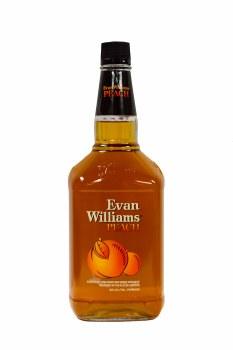 Evans Williams Peach Bourbonn Whiskey 1.75L