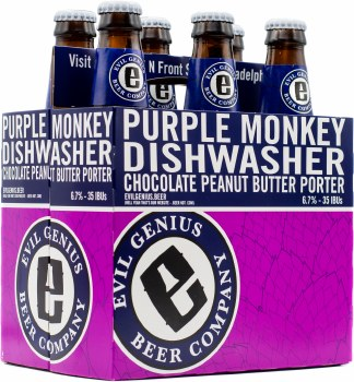 Evil Genius Purple Monkey Dishwasher 6pk 12oz Btl