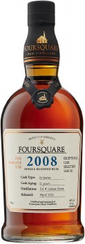 Foursquare 2008 Cask Strength 120 Proof Rum 750ml