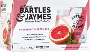 Bartles & Jaymes Grapefruit & Green Tea 6pk 355ml Can