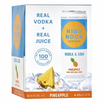 High Noon Pineapple Hard Seltzer 4pk 12oz Can