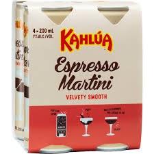 Kahlua Espresso Martini 4pk 200ml