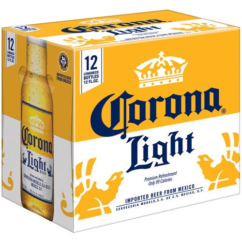 12 oz corona light beer calories