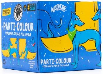 Wiseacre Parti Colour 4pk 12oz Can