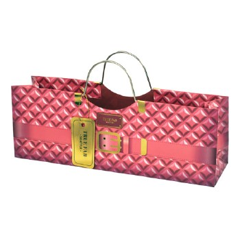Pink Plush Wine Purse Bag