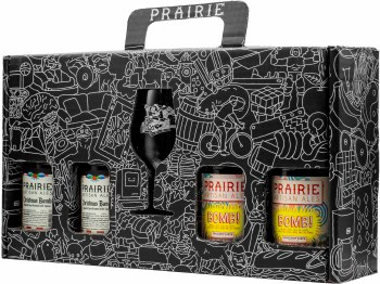 Prairie Holiday Gift Set with Glass 4pk 12oz Btl
