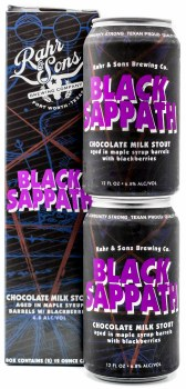 Rahr & Sons Black Sappath Stout Aged in Maple Syrup Bourbon Barrels with Chocolate and Blackberries 2pk 12oz Can