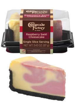 The Cheesecake Factory Raspberry Swirl Single Slice Slice