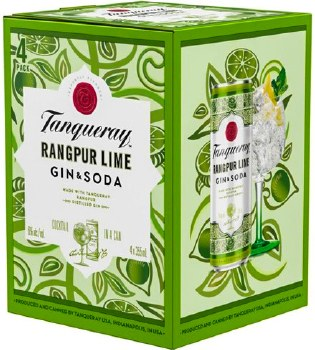 Tanqueray Rangpur Lime Gin and Soda 4pk 355ml Can