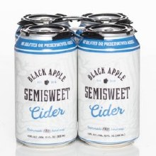 Black Apple Cider Semisweet Hard Cider 4pk 12oz Can