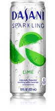 Dasani Sparkling Water Lime 12oz Can