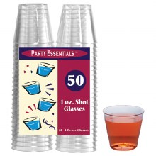 1 oz. Clear Shot Glasses 50pk
