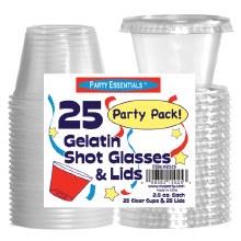 2.5 oz Jello Shot Cups w/ Lids 25pk