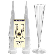 5 oz. Clear Champagne Flutes 10pk