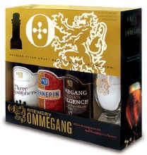 Ommegang Sampler Gift Set with Belgian Glass 3pk 750ml Btl