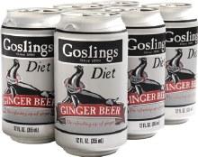 Goslings Diet Ginger Beer 6pk 12oz Can