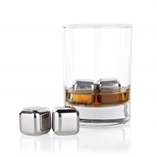 Glacier Rocks Small Stainless Steel Cubes (set of 4)
