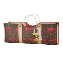 Cherry Truey Wine Purse Bag