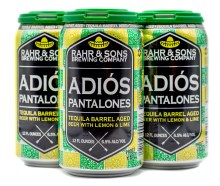Rahr & Sons Tequila Barrel Aged Adios Pantalones with Lemon and Lime 4pk 12oz Can