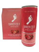Barefoot Pink Moscato Spritzer 4pk 250ml Can