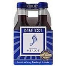 Barefoot Merlot 4pk 187ml