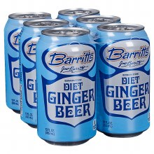 Barritts Diet Ginger Beer 6pk 12oz Can