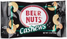 Beer Nuts Cashews 1oz