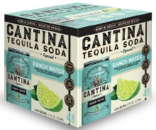 Cantina Ranch Water Tequila Soda 4pk 355ml Can