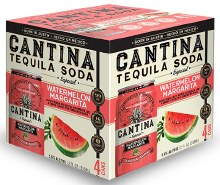 Cantina Watermelon Tequila Soda 4pk 355ml Can