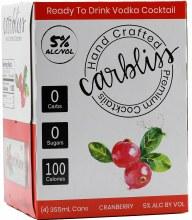 Carbliss Vodka Cranberry 4pk 355ml
