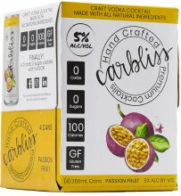 Carbliss Vodka Passion Fruit 4pk 355ml Can