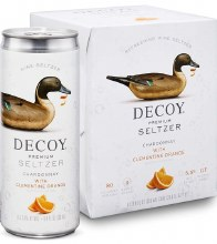 Decoy Premium Seltzer Chardonnay with Clementine Orange 4pk 250ml Can