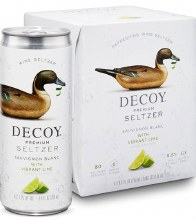 Decoy Premium Seltzer Sauvignon Blanc with Vibrant Lime 4pk 250ml Can