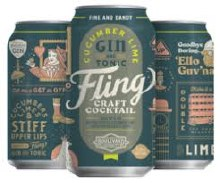 Fling Cucumber Lime Gin and Tonic 12oz Can