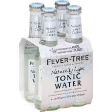 Fever Tree Naturally Light Indian Tonic Water 4pk 200ml Btl