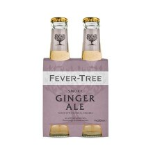 Fever Tree Smokey Ginger Ale 4pk 200ml Btl