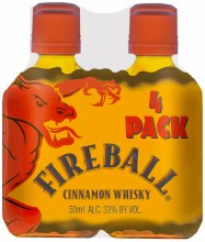 Fireball Cinnamon Whisky 4pk 50ml