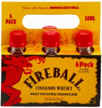 Fireball Cinnamon Whisky 6pk 50ml