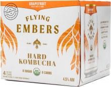 Flying Embers Grapefruit Hard Kombucha 4pk 12oz Can