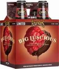 Founders Big Lucious Raspberry Stout 4pk 12oz Btl