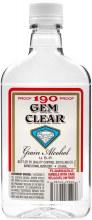 Gem Clear 190 Proof Grain Alcohol 375ml