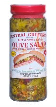 Central Grocery Hot & Spicy Olive Salad 16oz
