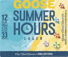 Goose Island Summer Hours Lager 15pk 12oz Can