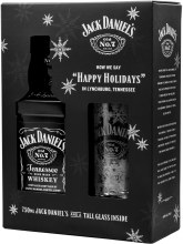 Jack Daniels Old No. 7 Tennessee Whiskey Gift Set 750ml