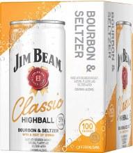 Jim Beam Classic Highball Bourbon Seltzer 4pk 355ml Can